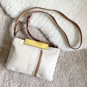 Marc By Marc Jacobs Cream & Tan Crossbody Bag